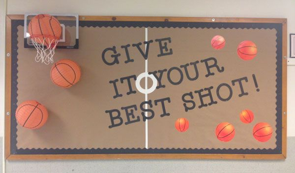Check out this fun 3D Basketball Idea featured in the Back to School Bulletin Board Ideas Roundup on OneCreativeMommy.com!
