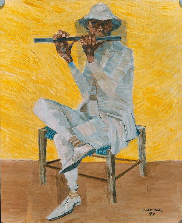 Flautista, Candido Portinari, 1957