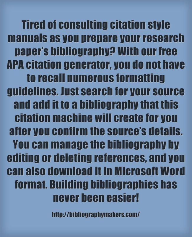 sources apa format generator