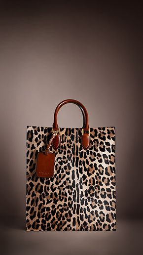 Burberry Prorsum Autumn/Winter 2013 Show - Spotted Animal Print Tote Bag