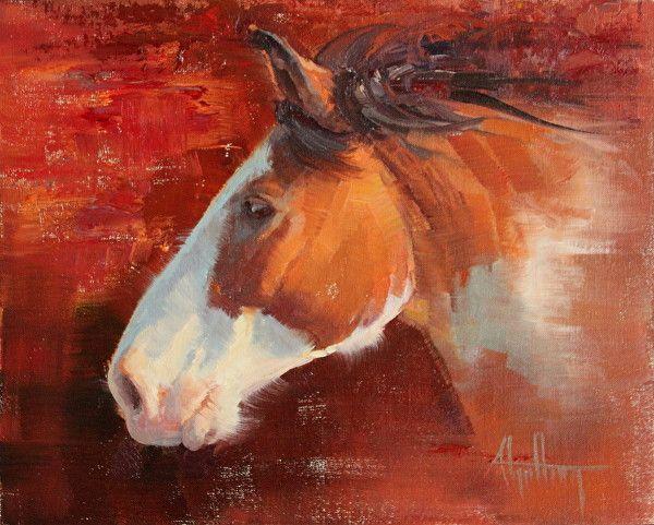 """Pinto Bronc"" by Abigail Gutting Oil ~ 8"" x 10"""