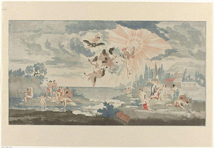 Val van Phaëthon, Anonymous, Johan Teyler, 1688 - 1698