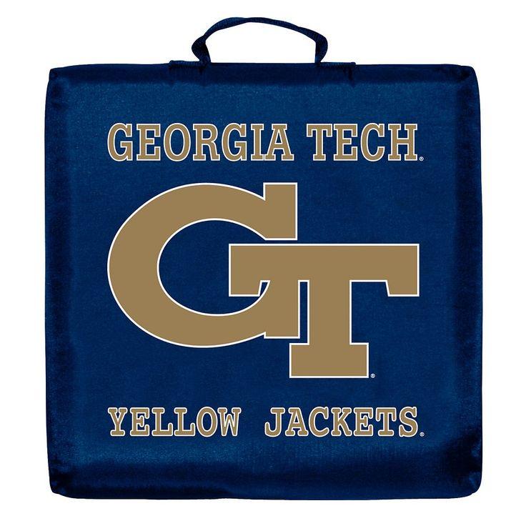 Logo Brand Georgia Tech Yellow Jackets Stadium Cushion, Multicolor
