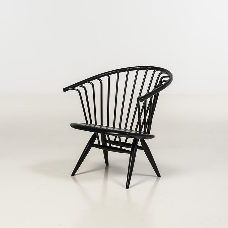 ilmari tapiovaara / crinolette fauteuil  bois peint pour asko