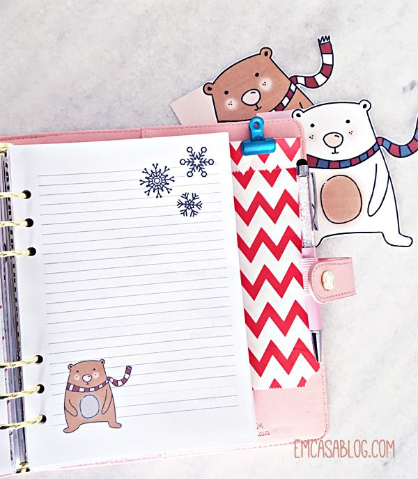 Em Casa Blog: Free Bear  Planner Printables