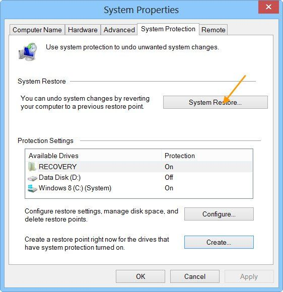 How To Fix The File System Error System Restore Windows 10
