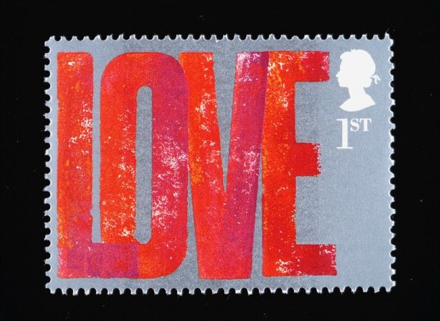 Love stamp for the Royal Mail designed by Alan Kitching.