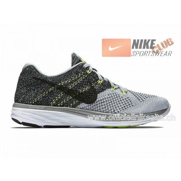 dbf104211d98 ... Femme Noir - Blanc 698182-001 Nike Flyknit Lunar 3 - Chaussure de Nike  Running Pas Cher Pour Homme Gris  Blanc ...
