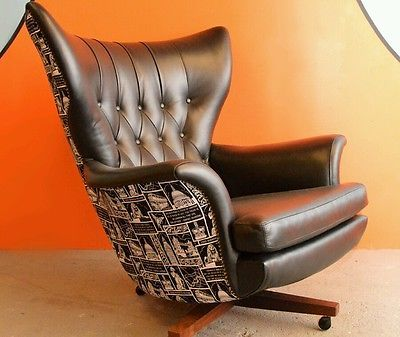 G Plan James Bond Blofield Swivel Arm Chair Ebay