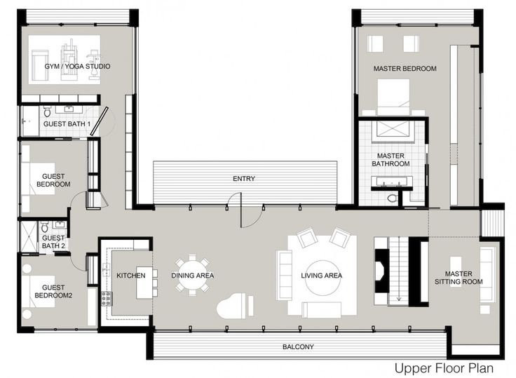 U Shaped Floor Plans 507 best plans to inspire images on pinterest | house floor plans