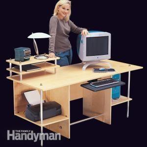 Simple Modern Computer Desk | The Family Handyman