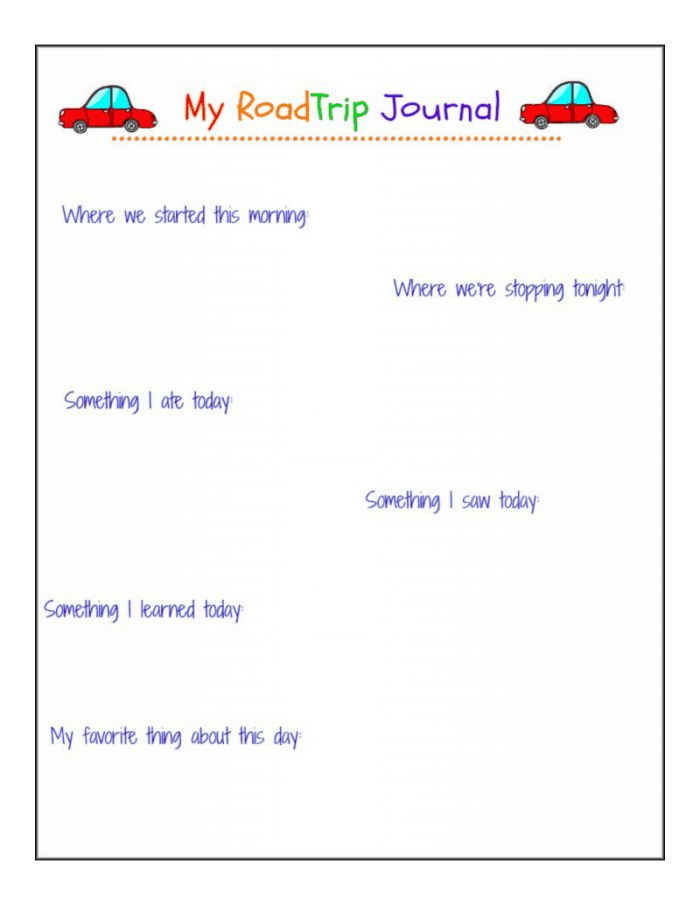 road trip journal *free printable!