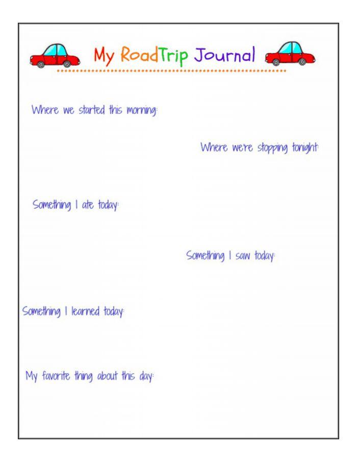road trip journal *free printable!