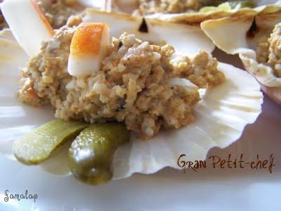 """Cocina fácil """"sin gluten"""": Conchas rellenas de falso marisco"""