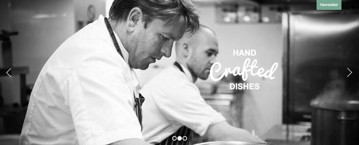 James Martin Manchester Website by The Drawing Room Creative
