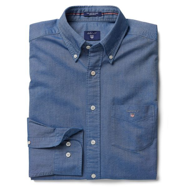 GANT: Blue Oxford Shirt Men's | GANT USA Store