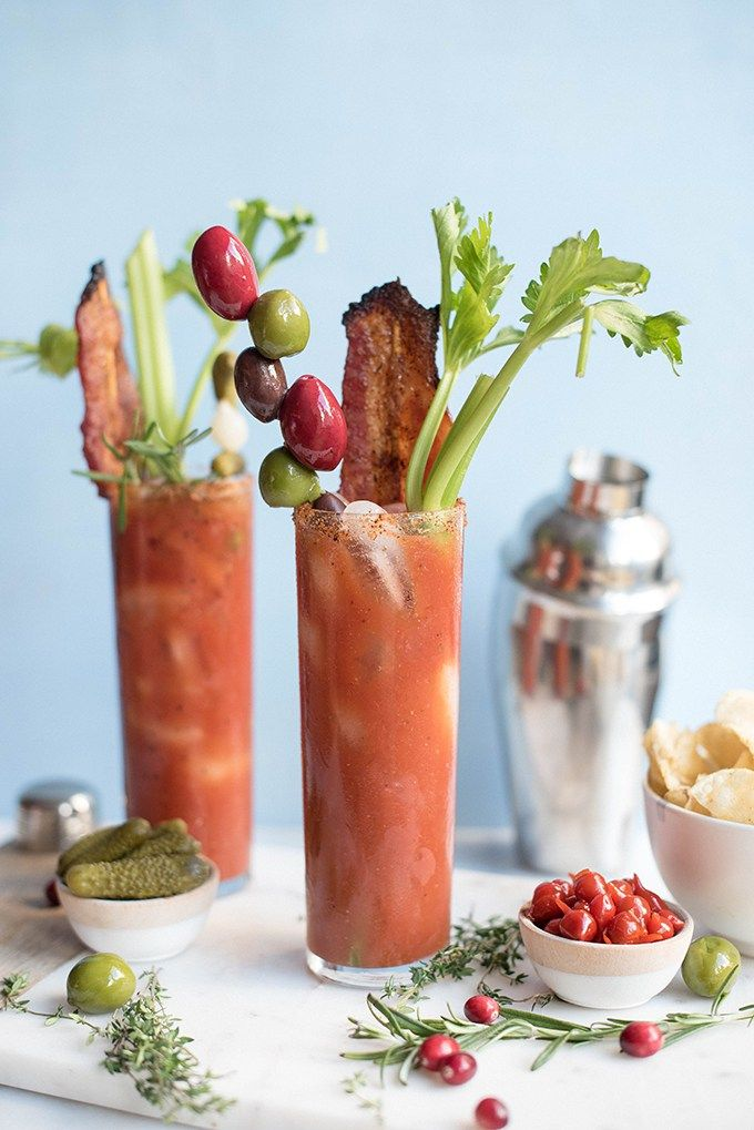 bloody mary with Korean style candied bacon | superman cooks  @powellmahoney #bettertogether #powellandmahoney #craftyourcocktail
