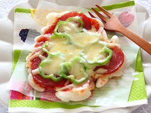 フライパンで作る餅ピザ