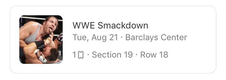 #tickets WWE Smackdown - Barclays Center 8-21-18 Brooklyn, NY please retweet
