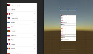 Implementing a country selection list with a recycling mechanism in Unity3d.
