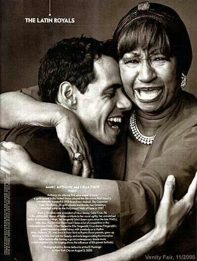 Marc Anthony & Celia Cruz. Two of latin music's best vocalists. La reina de la sala! Azucar!