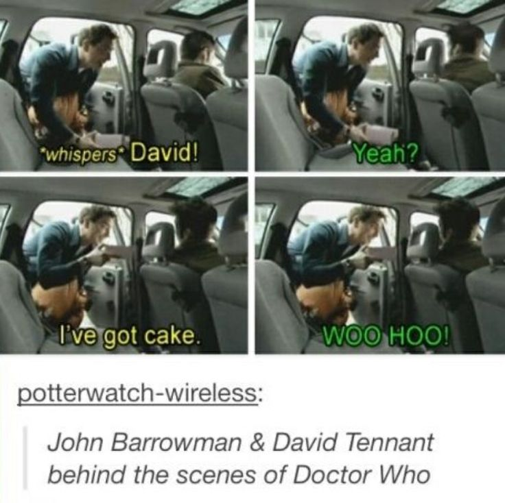 David Tennant and John Barrowman...