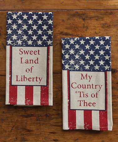 Look what I found on #zulily! 'My Country & Sweet Land' Guest Towel - Set of Two #zulilyfinds