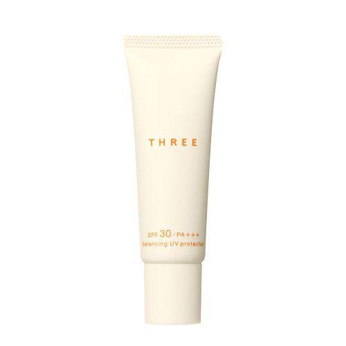 THREE Balancing UV Protector - Everglow Cosmetics #THREE #Sunscreen
