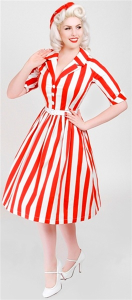 Striped Dress by Bettie PageStriped Dress by Bettie Page.  Worn here by the ever fabulous  Doris Mayday.