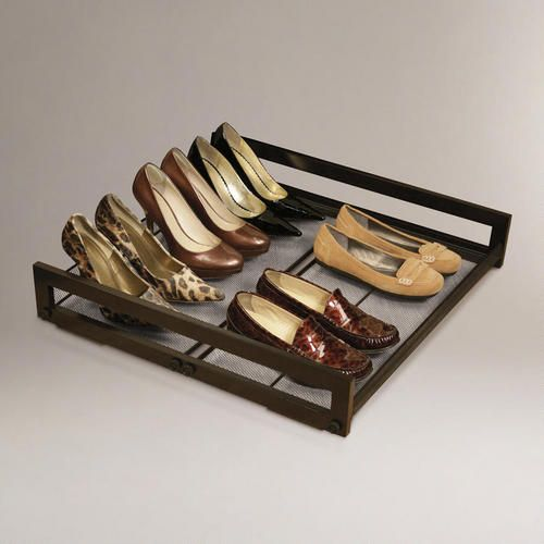 One of my favorite discoveries at WorldMarket.com: Under-Bed Sliding Shoe Rack