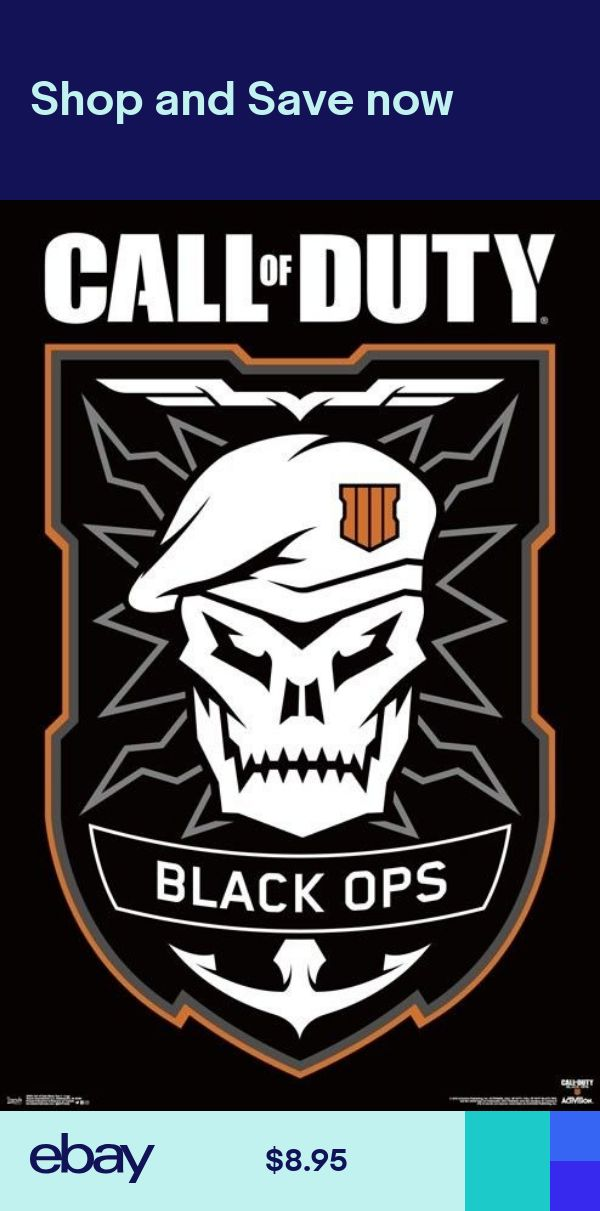 Call Of Duty Black Ops 4 Logo Poster 22x34 Video Game 16948 Call Of Duty Black Call Of Duty Black Ops 3 Call Of Duty