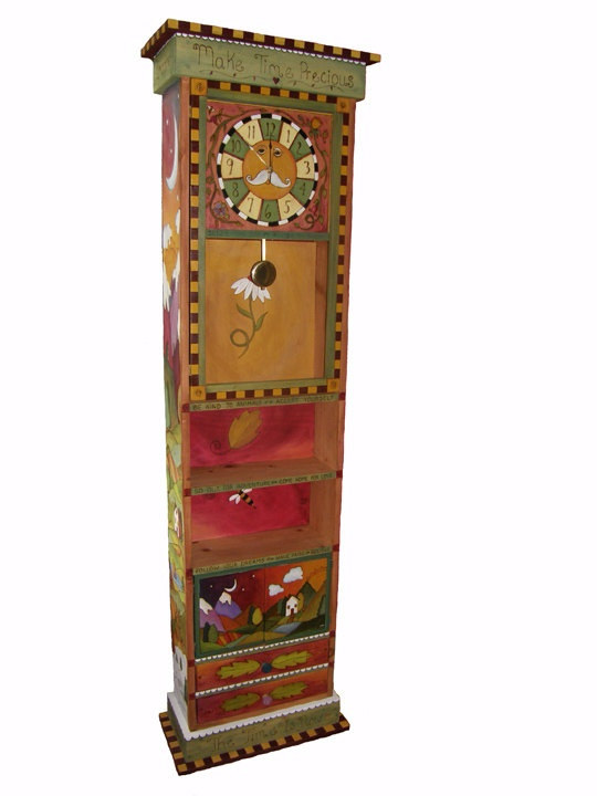funky furniture and stuff. whimsical grandfather clock custom order by woodwithheart on etsy 77500 colorful furniturefunky funky furniture and stuff a