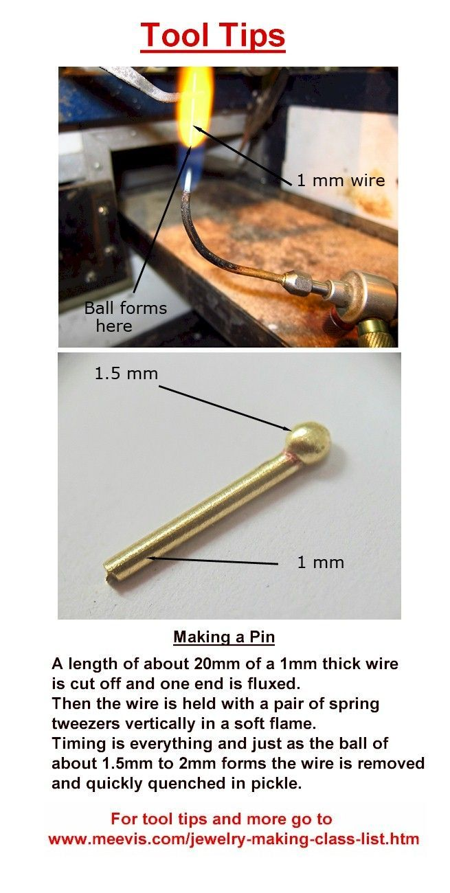 Jewelry Tool Tip - Making a Pin - Pin is used for an awl ( bail ), rivets, hinges, collets and many more --Metalsmithing / DIY / Tutorial / Wire / Jewelry Making