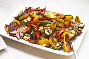 Grilled Dijon Mixed Vegetables recipe--I add green beans and whatever fresh veggies I have available from the garden.