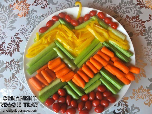 Creative Kid Snacks: 3 Creative Christmas Veggie Trays