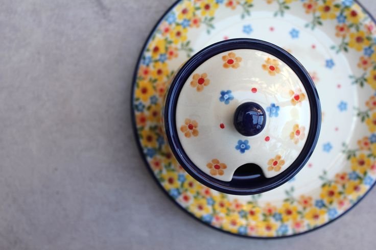 We call this new pattern Spring   . Handmade Polish Pottery from Boleslawiec .