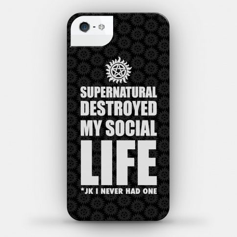 Supernatural Destroyed My Life | iPhone Cases, Samsung Galaxy Cases and Phone Skins | HUMAN