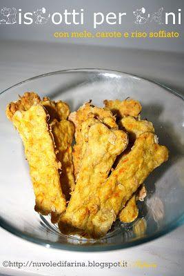 Biscotti per cani, con mele, carote e riso soffiato