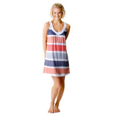 Grey Stripe Nightie by Pickles and Loop | Pyjamas.com.au