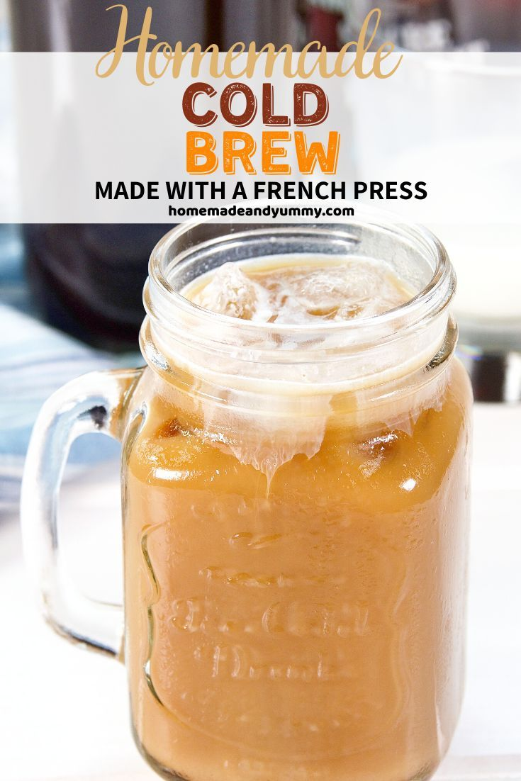 Jun 20, 2020 – This barista quality coffee is made with a french press. Topped with cold foam. The perfect iced coffee….