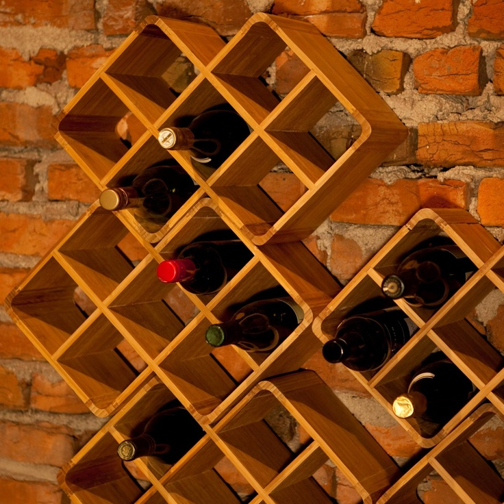 or a wall mounted Bamboo 8-Bottle Stackable Wine Rack