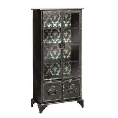 All Home New York Loft Large Glass Display Cabinet