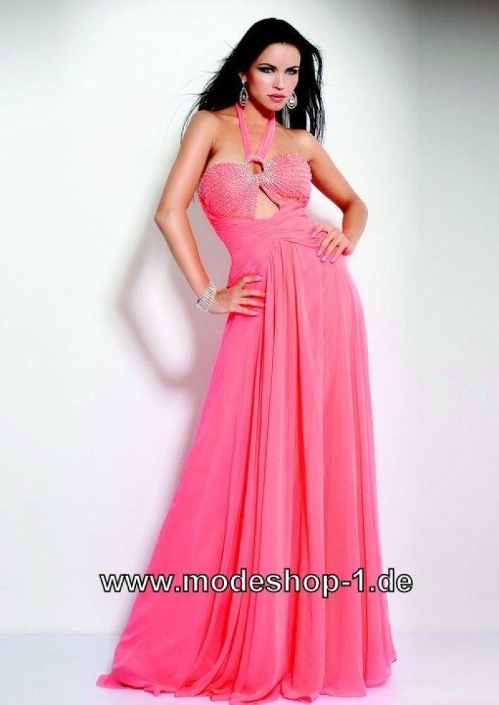 A Linie Abend Kleid Online in Pink
