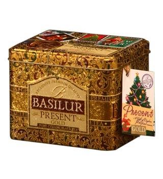 Sød dåse med julebilleder på låget. Dåsen indeholder en dejlig krydret te. Der er også et til/fra mærkat. Gem dåsen og sæt den frem til jul. Fra Basilur Te