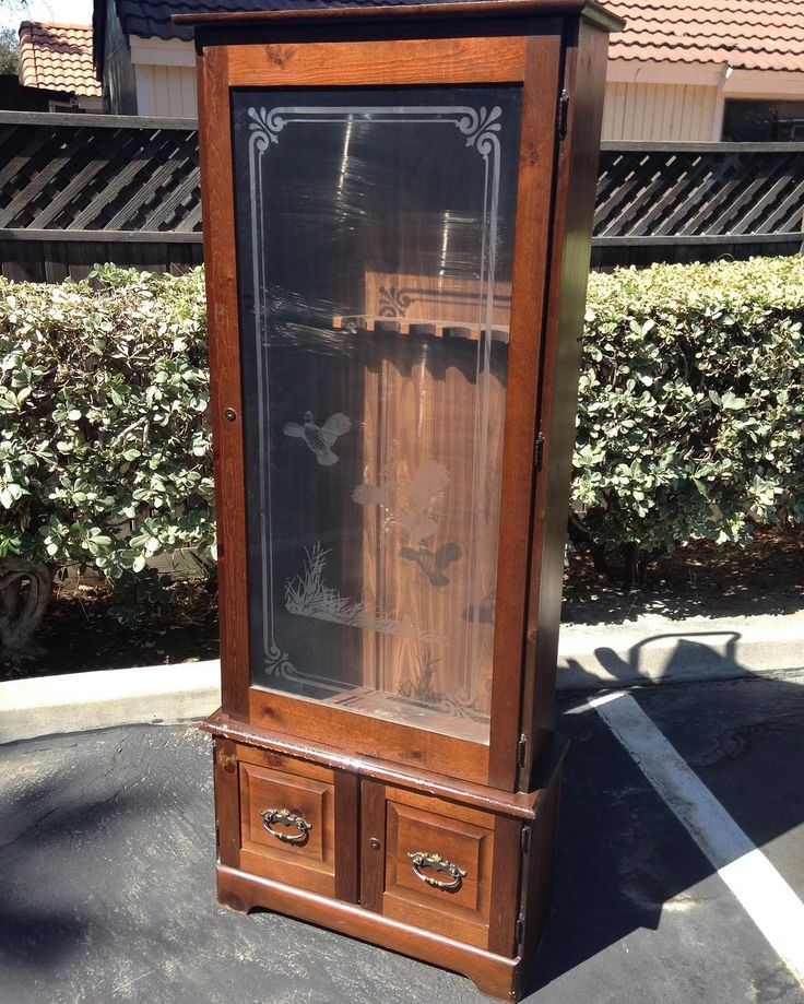 Available for sale. Gun Safe Cabinet. Details at VintagePopandVice.Com Link  in bioDM Email or Text InquiriesEtsy account not necessary to purchase … - Available For Sale. Gun Safe Cabinet. Details At VintagePopandVice