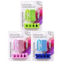 Bulk Sassy+Chic Pedicure Tools, 5-pc. Sets at DollarTree.com