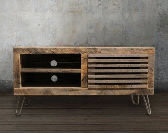 reclaimed tv standmedia consolewood credenza by atlaswoodco