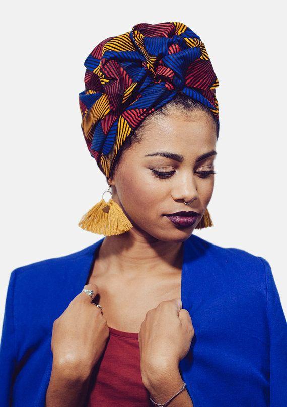 IndiraDeParis: Pre sewn // wire turban // african prints / head wrap / headwrap / ANITA