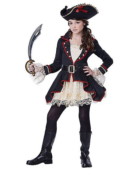 Pirate Captain Tween Costume - Spirithalloween.com