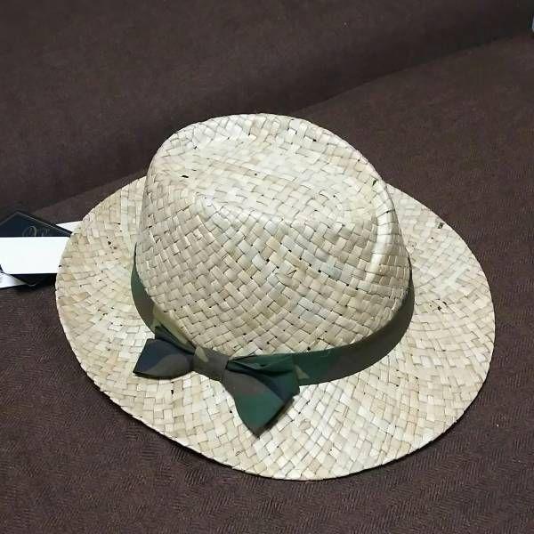 新品タグ付き イタリア製ハット Santelli Francesca パナマラフィア麦わら帽子天然素材レディース_画像1
